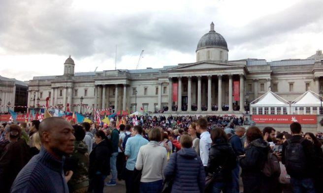 La National Gallery des de Trafalgar Square.