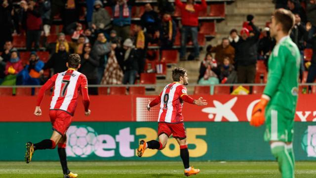 Portu celebrant el gol. Imatge: LFP